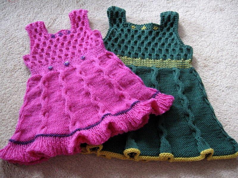 Вязаная туника для девочки | Вязание