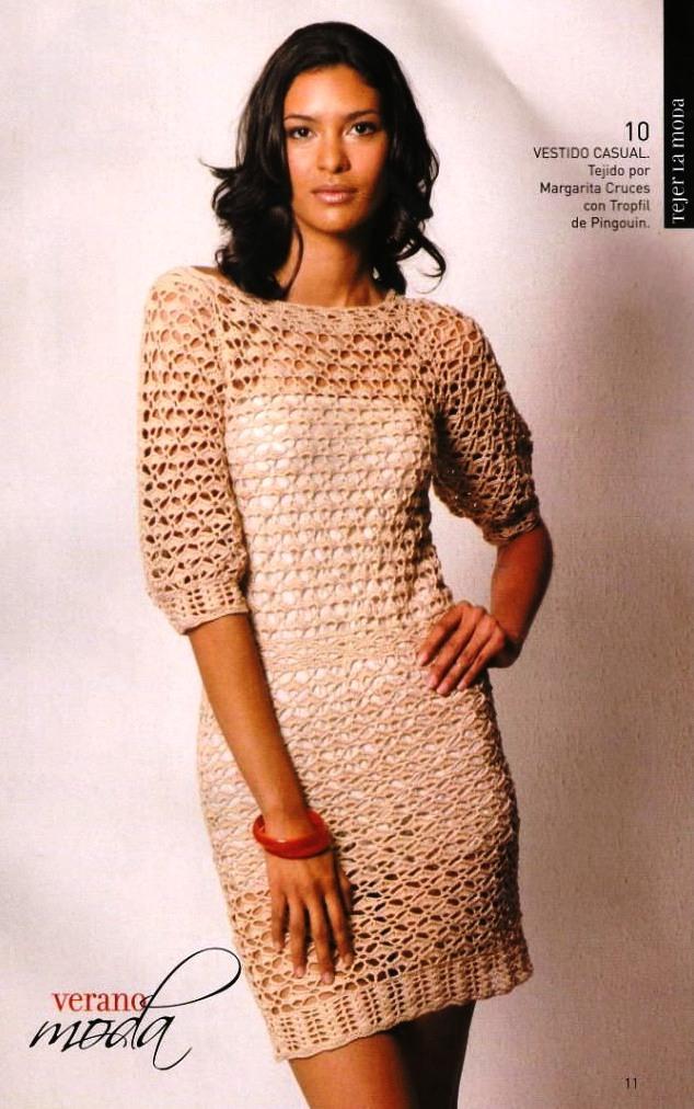 Образцы вязания платьев крючком