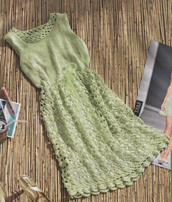 Нежное платье салатового цвета