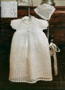 вязаное платье для крестин