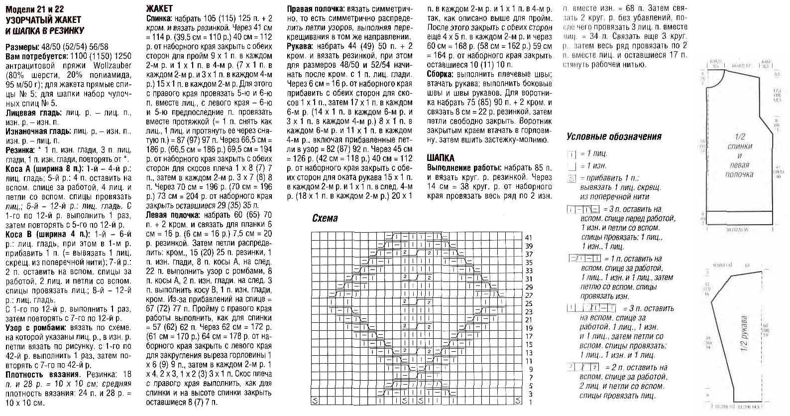 Гетры спицами схема и описание