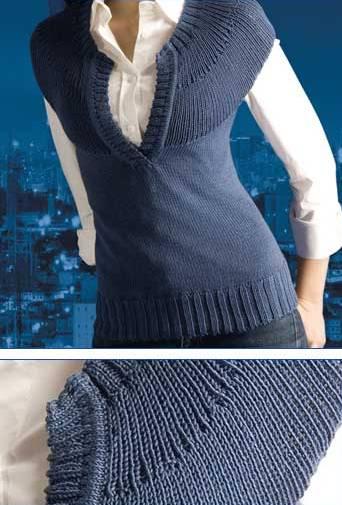 Комментарий: Вязаный жилет, вязание жилетка спицами для женщин.