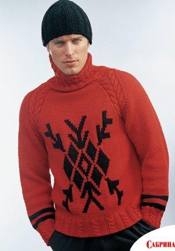 свой цитатник или сообщество! Мужской пуловер крючком