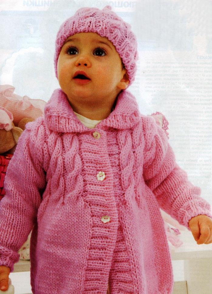 Вязаные пальто для детей -