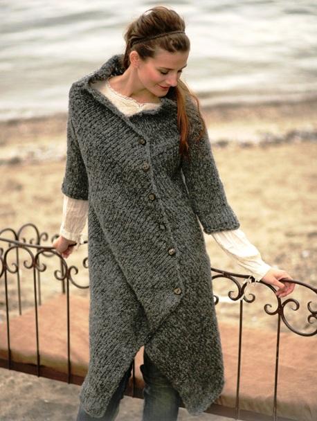 Вязать пальто -