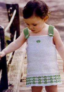 вязаный сарафан для девочки