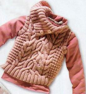вязание безрукавки для детей