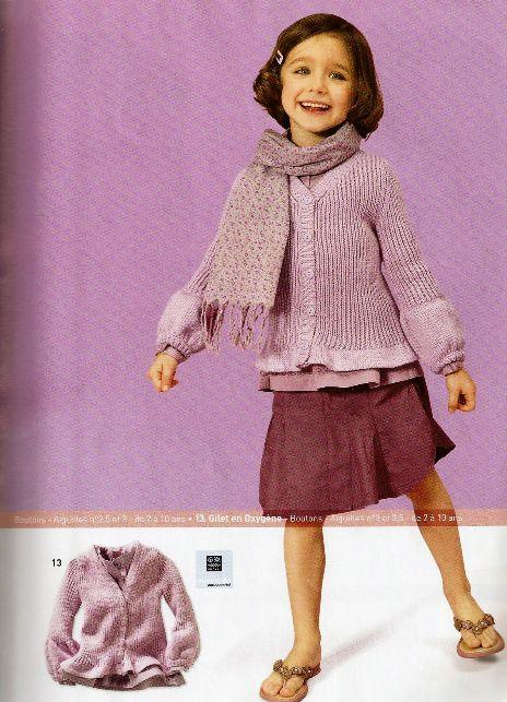 Вязаная кофточка для девочки Вязание.