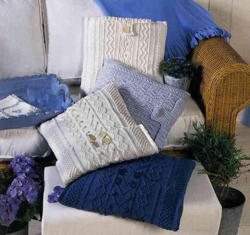 выкройки и схемы вязания вязаные подушки спицами сшить самой