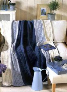 вязаное покрывало