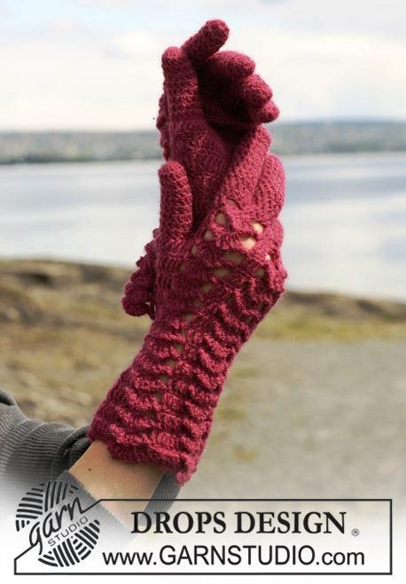 Схема вязания перчаток крючком вязание крючком.