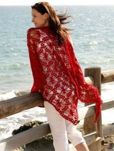 вязание шали