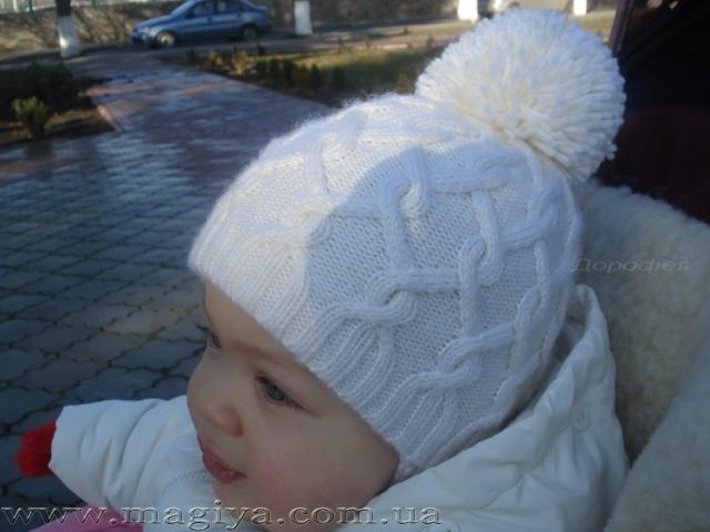 вязания двойной детской шапочки