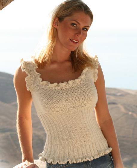 летнее вязание спицами топики майки.
