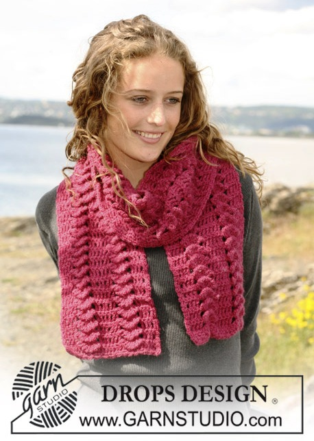вязание крючком шарф видео уроки бесплатно
