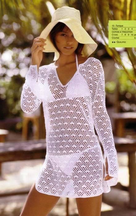 Вязание крючком платье на пляже