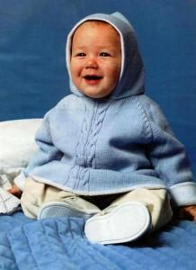вязание пончо для малыша