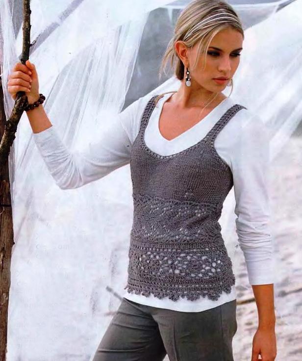 Вязание жилета | Вязание спицами