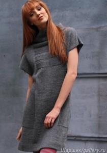 вязаное платье-туника