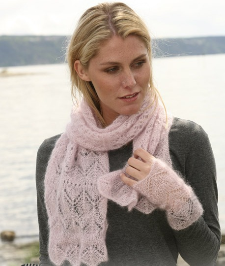 Проект на Ravelry: 108-4 a - scarf in lace pattern. http...