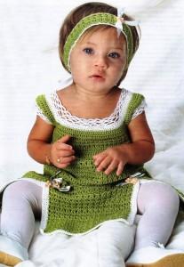 вязаное платье и повязка