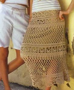 юбка вязаная крючком