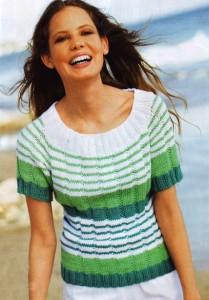 Летний вязаный пуловер