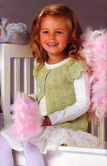 """Ажурный жилет. опубликованы в журнале  """"Маленькая Diana """" спецвыпуск 6 /2008 Вязание крючком."""