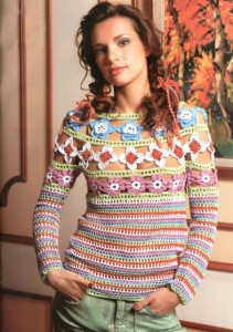 пуловер вязаный крючком