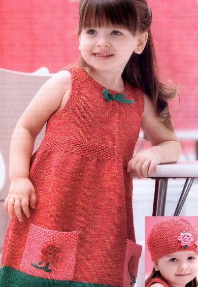 сарафан для девочки 4 лет спицами, вязаные сарафаны для