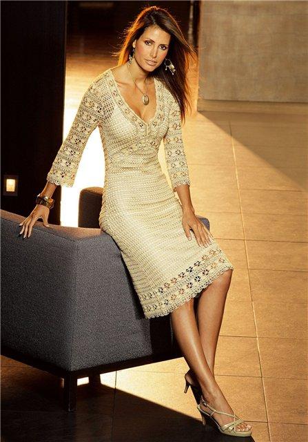 Платье вязаное схемы и модели