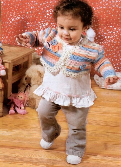 Комментарий: Болеро вязанные крючком со схемами для девочек