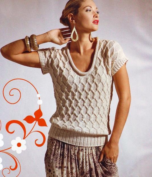 Это фото находится еще в галереях: схема вязания манишки спицами и...