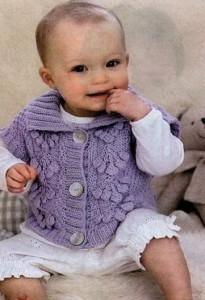 вязаный жилет для детей