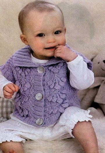жилет для малыша вязаный - Выкройки одежды для детей и взрослых