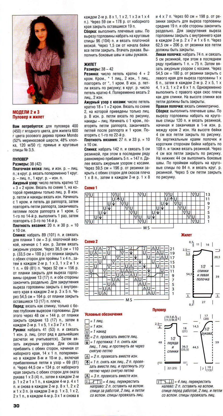 Вязание бесплатные схемы - жилеты, безрукавки Узорчик. ру 24