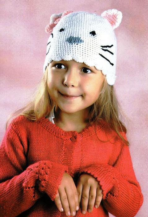 вязание крючком шапки, Платье детское