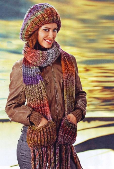 Журнал: Сабрина 10 2010 спецвыпуск.  Шапки и шарфы.  Прочитать целикомВ.