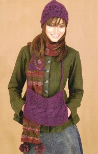 шапочка, шарф и муфта