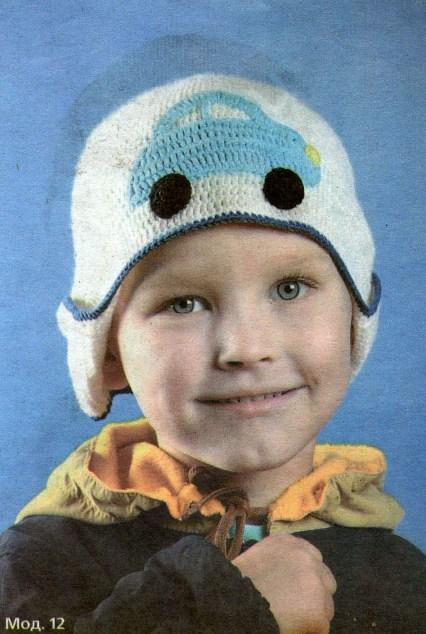 вязание крючком детские шапочки для мальчиков