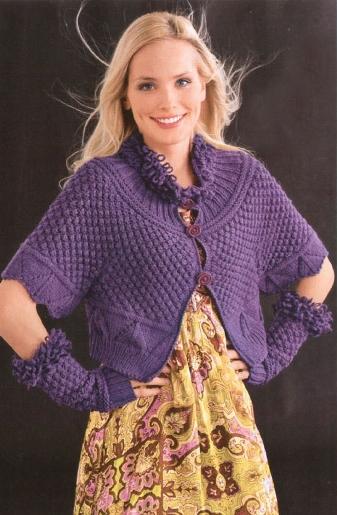 Вязание расположены также в разделах: схемы вязания летних беретов и узоры плотного вязания спицами.