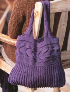 вязаная летняя сумка спицами схемы.