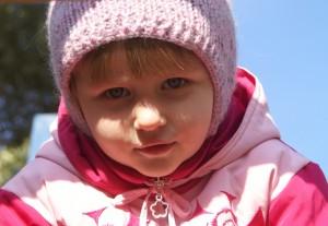 вязаная шапка детская