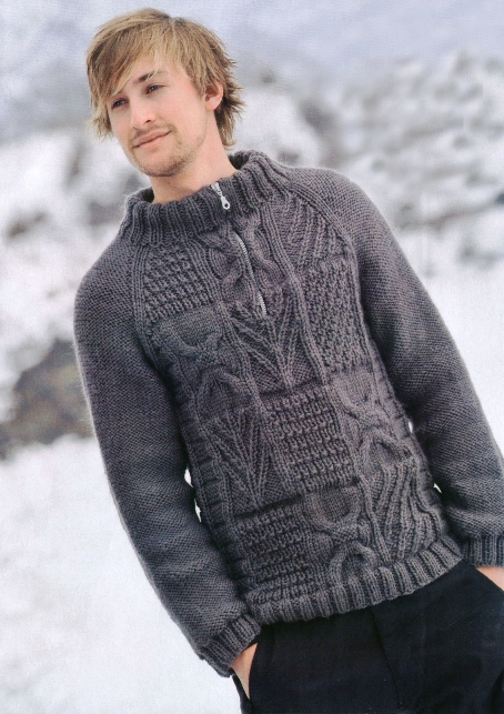 Схема вязание спицами для мужчин.