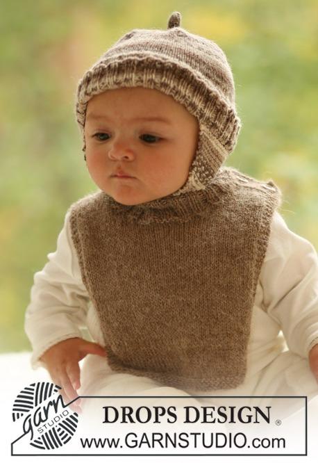Вязанные детские шапочки на девочку спицами