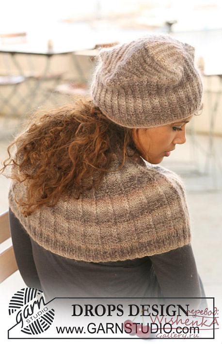 Вязаная шапка для девушки