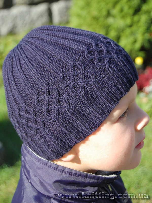 Как связать крючком шапку для ребенка.