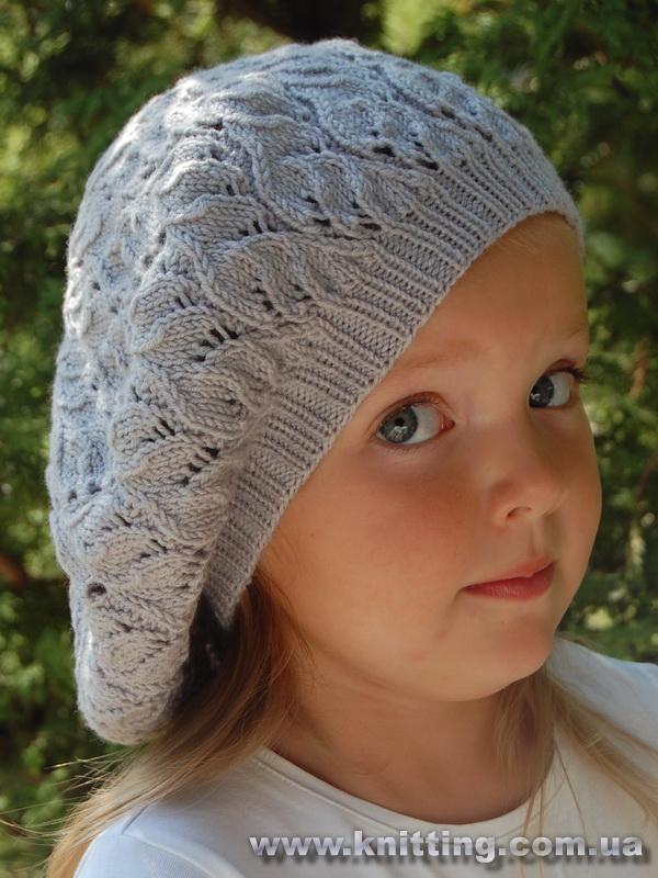 Вязание шапочек косами