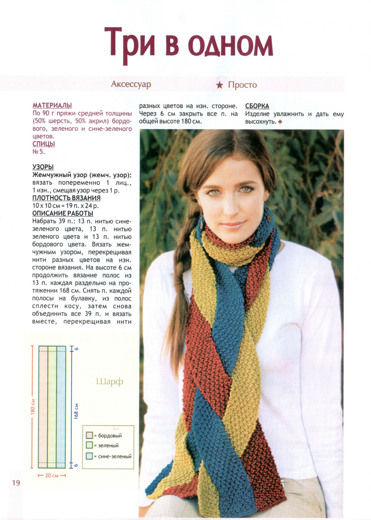 Вязание шарфов спицами фото описание