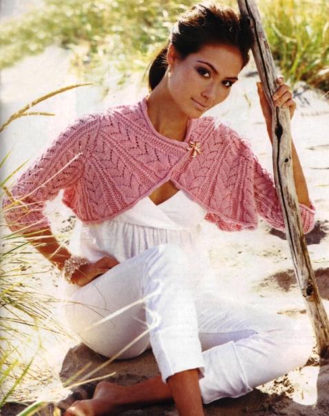 розовое летнее болеро спицами - Выкройки одежды для детей и взрослых.